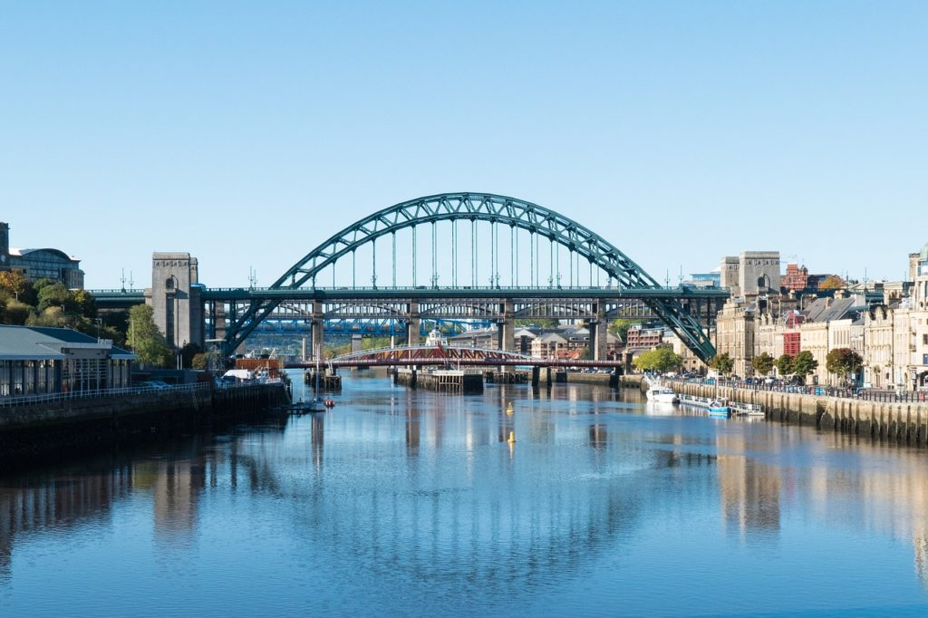 Ponte The Tyne, em Newcastle 1